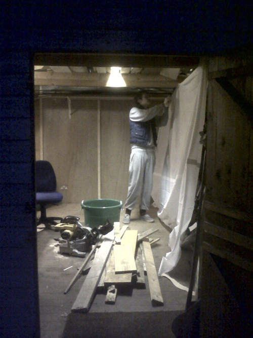 The studio in construction