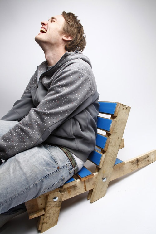 Photoshoot....an early edition of the Pallet Chair