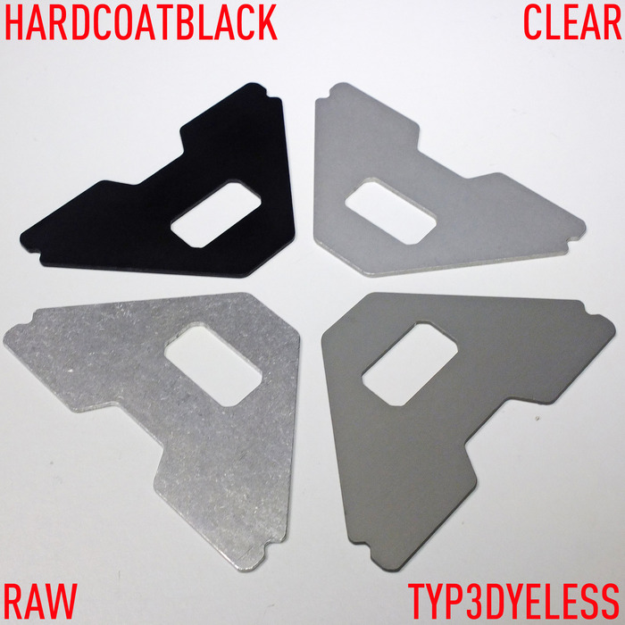 NEW FINISH OPTION: TYP3 DYELESS HARDCOAT, IN ADDITION TO BLACK, CLEAR AND RAW