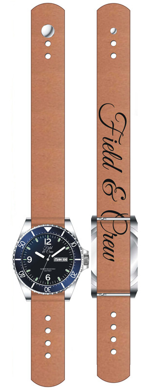 Heritage Watch with Brown Leather Stud Band (Mock Up)