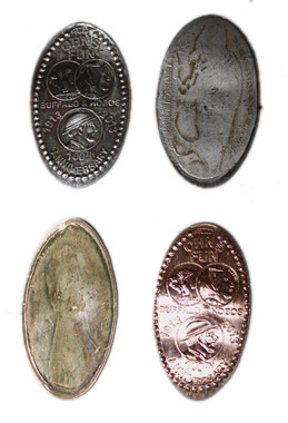 Cash in your nickles and get a set of cool smashed coins!