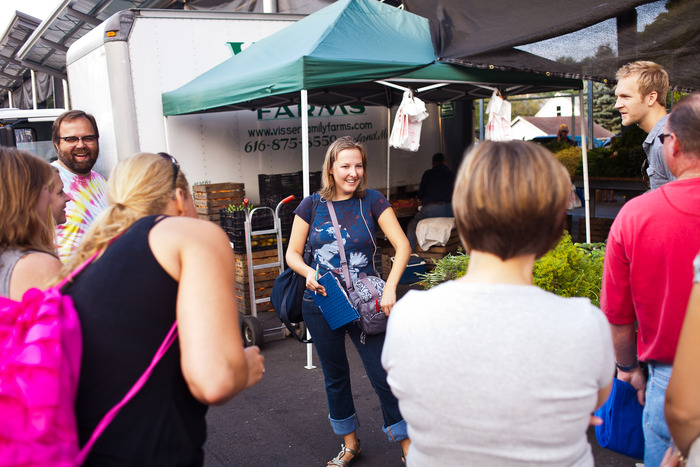 Molly at the Fulton Street Farmers Market (Photo Credit: Jonathan Stoner Photography)