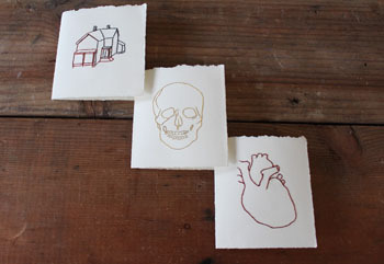 Fig. B: Hand-Stitched Cards by Galen Koch