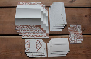 Fig. D: Hand Printed Stationery Set by Kendyll Gage-Ripa