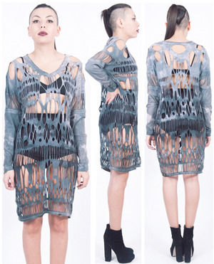 Fig. I: Cut Tee Dress by Alexa Stark