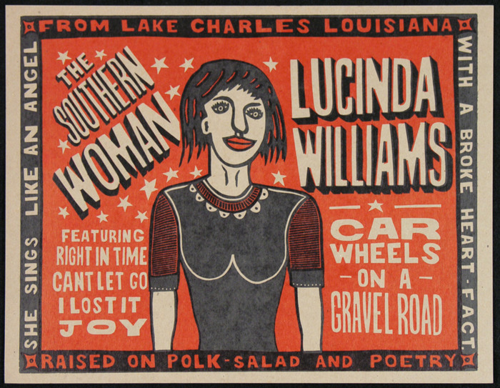 """Lucinda Williams, Car Wheels"" $35"