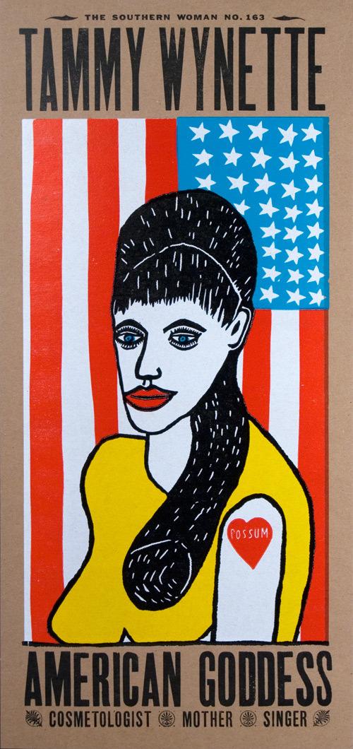 """Tammy Wynette, American Goddess"" $50"