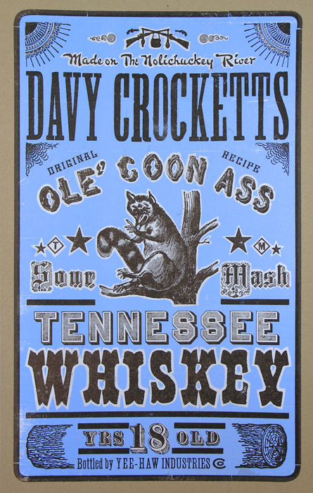 """Davy Crocketts Tennessee Whiskey"" $50"