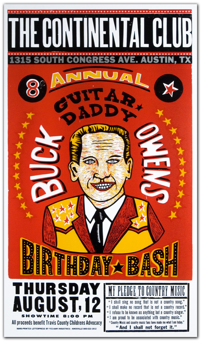 """Buck Owens Birthday Bash"" $50"