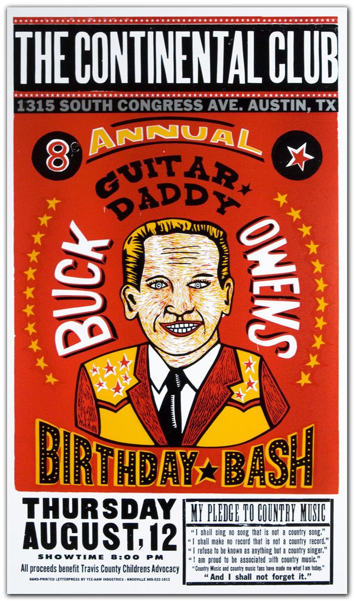 """Buck Owens Birthday Bash"" $50"