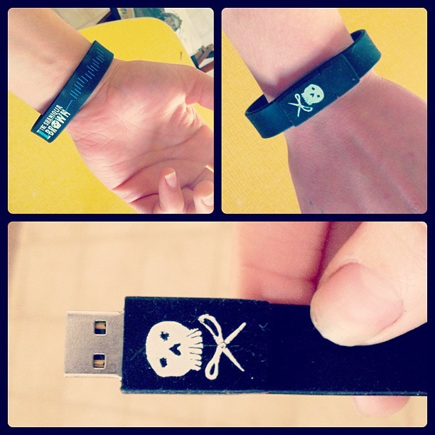 Exhibit C. The Shaniqua Brown actual debut release USB Drive wristband