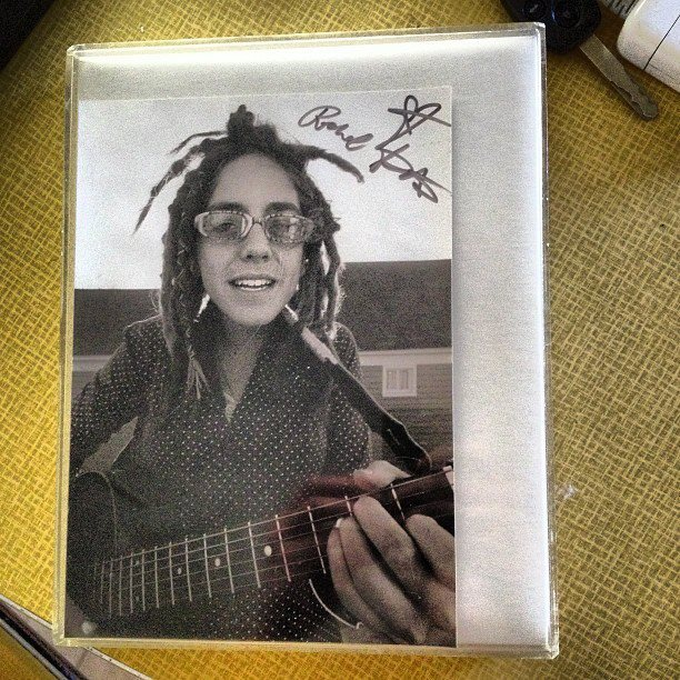 Exhibit D. A dreadie photo of/signed by Rachel Kate circa 2007. Taken and processed by Ladd Bayliss- In it's original frame from Kate Shmatie!