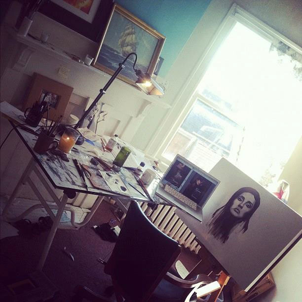 Cassie Phillips' studio in Columbus, Ohio.