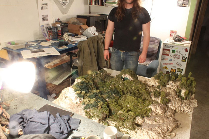 Mathew Presutti in his studio in South Dakota.