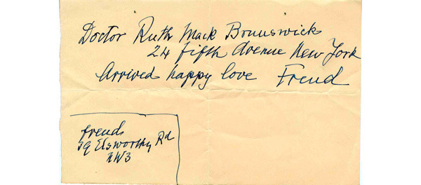 1938 • A note written in English. (Age 82)