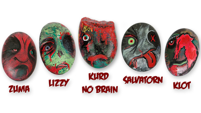 Limited-Edition Russian Ghoulette Pet Zombie Rocks