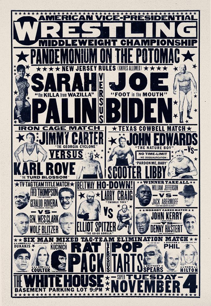 """Vice Presidential Wrestling"" $350"