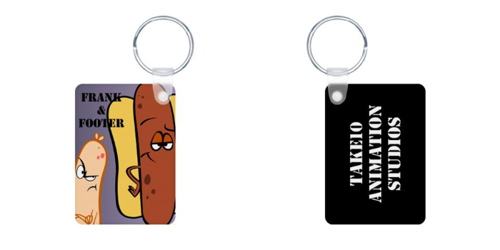 Key chains front and back