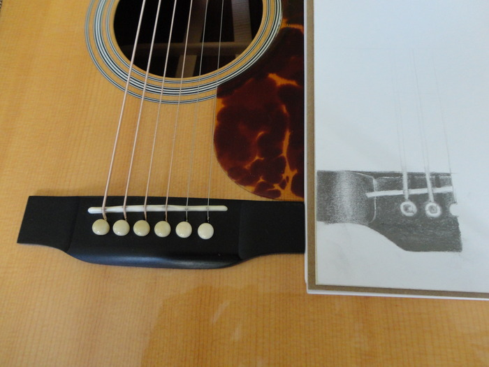 3x5 close up guitar sketch in the works (actual guitar not included)