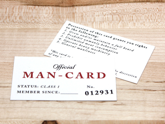 Prototype of the man-card