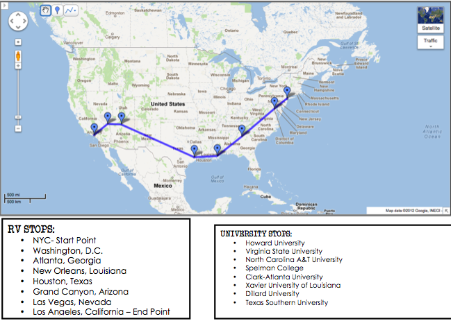 Nomadness RV Takeover Route