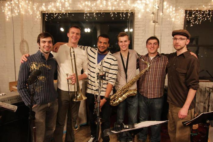 The Sextet at the studio in Brooklyn