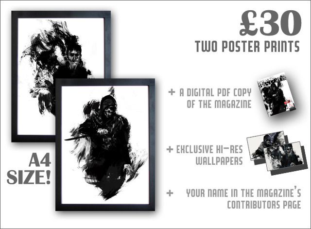 These A4 posters are exclusive to the £30 tier!
