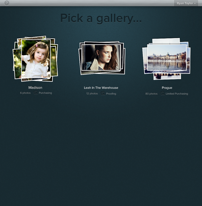 Gallery Selection Screen