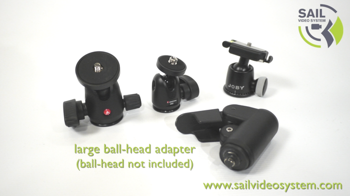 Large ball head adaptor (ball head not included)