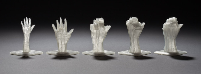 The five 40mm reward sculptures