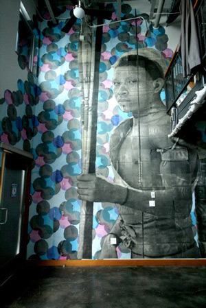 Fig. W: Example of Wallpaper Installation by Nathan Reimer.