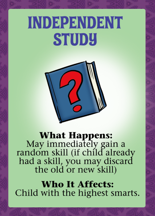 Event Card: This is a good Event.  Studying pays off!