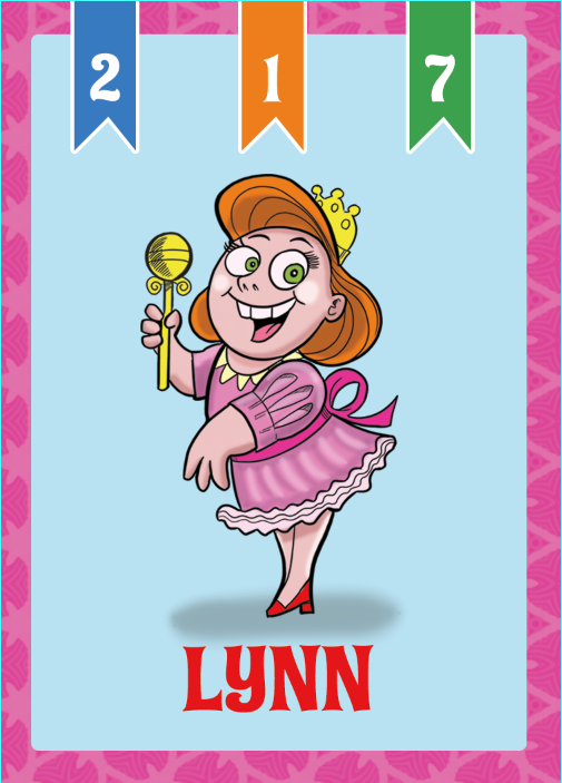Child Card: Lynn is a born winner... You hope.