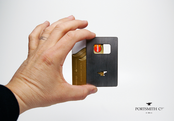Fulcro CC :: a credit-card sized, stainless steel, minimalist bottle opener :: Designed In-House, American-Crafted