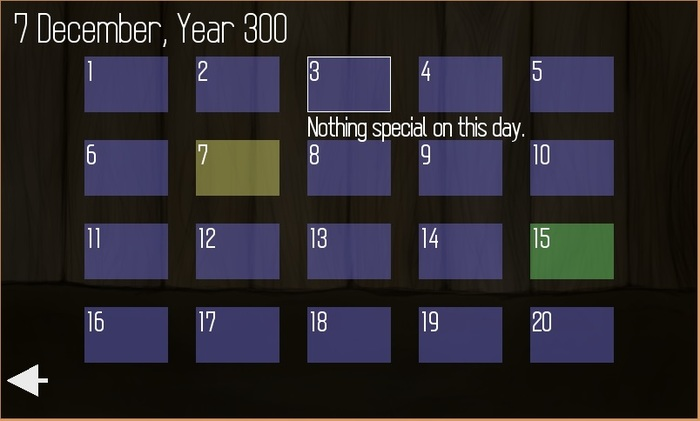 Screenshot of the prototype's calendar system, where you can check for upcoming events like competitions, holidays, and birthdays.