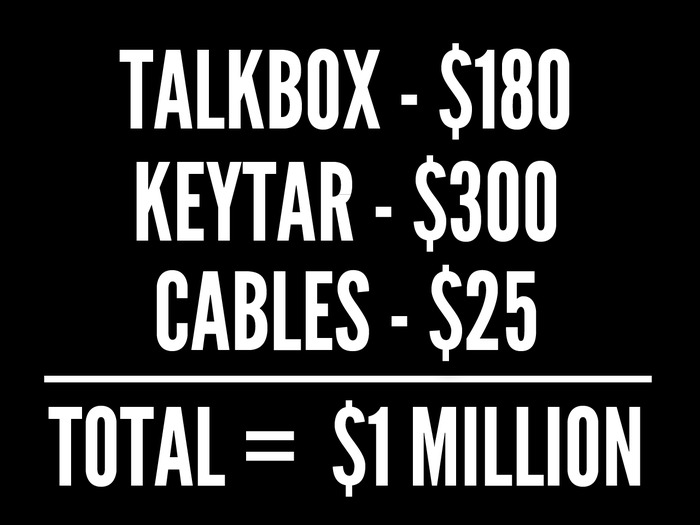 Traditional talkboxes are expensive. Ours is not.