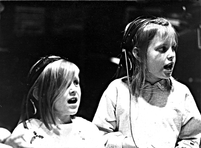 Lily and Abigail during the Tom Chapin 'Family Tree' Sessions