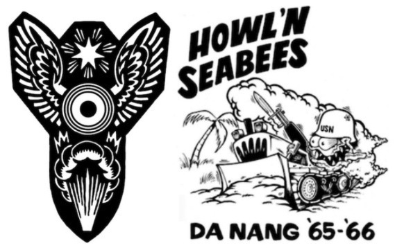 """Bomb"" and ""Howl'n Seabees"" Tees. 100% 7oz. cotton jersey."