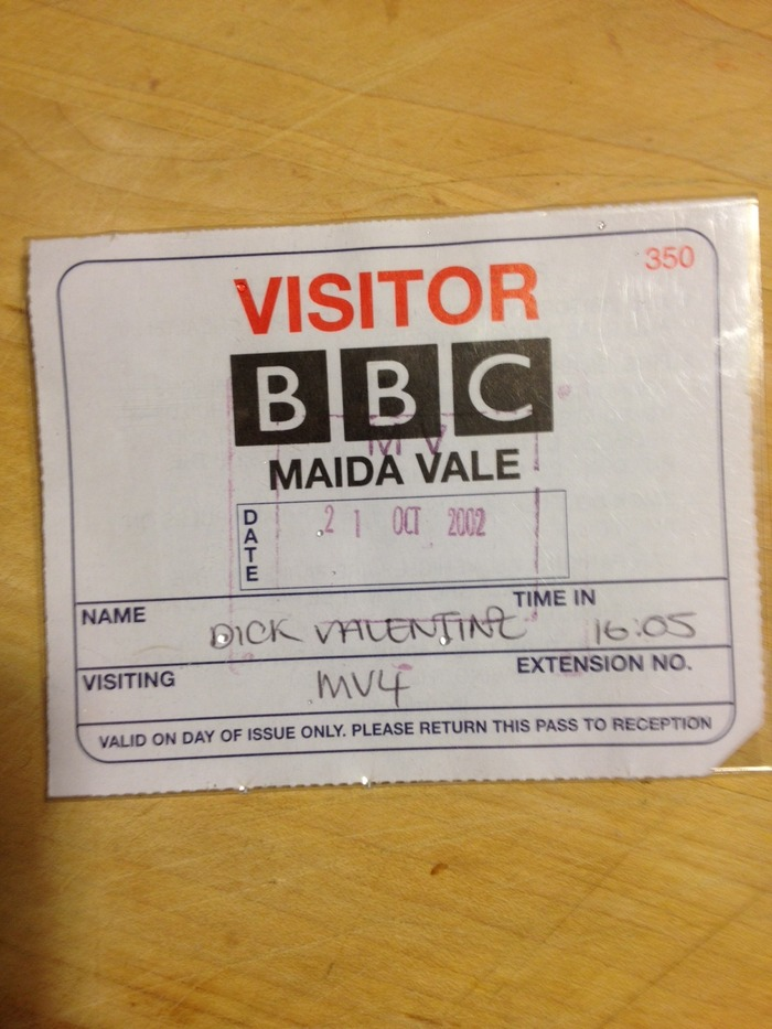 Dick Valentine's Maida Vale all access pass