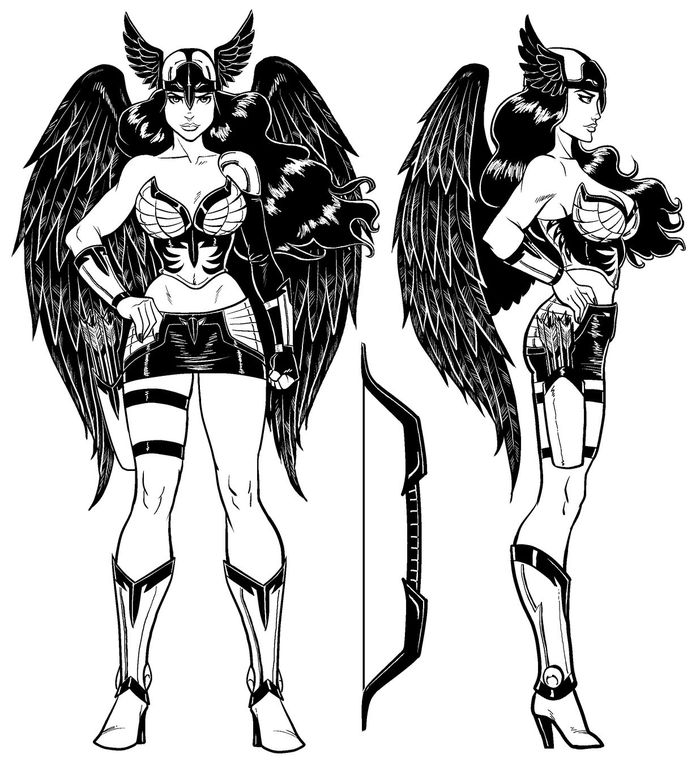 Concept Art - Olia the Valkyrie - Ing the Viking, Volume II - Copyright: Scott Messer  / 2013
