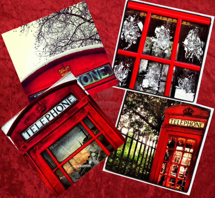 Phone box postcards shot especially for us by London photographer David Southwell