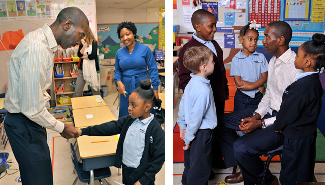 My scholars meeting Elliot Perry! Images courtesy of Memphis Parent Magazine