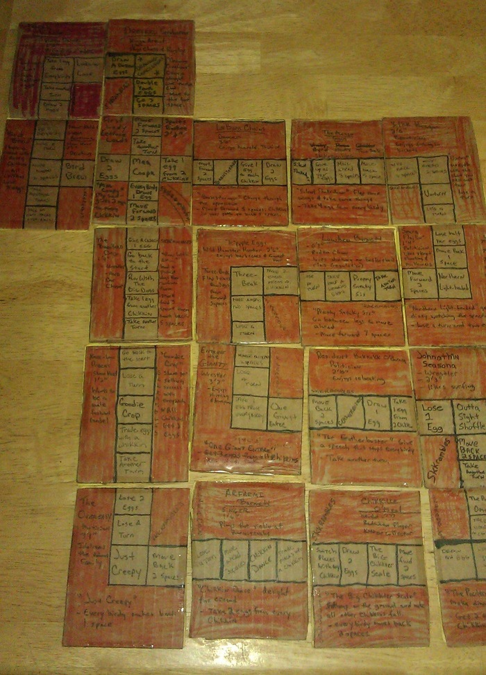 Skkrambled™ trading cards in a huge gameboard.