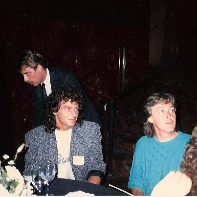 Steve Thompson with Paul McCartney back in the Late 80's
