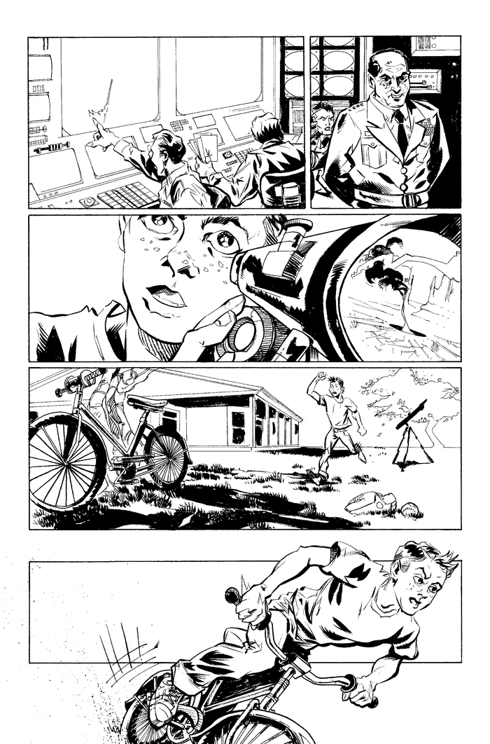 Page 2, pencils by Mike Fiorentino, Ink by Steve Wands