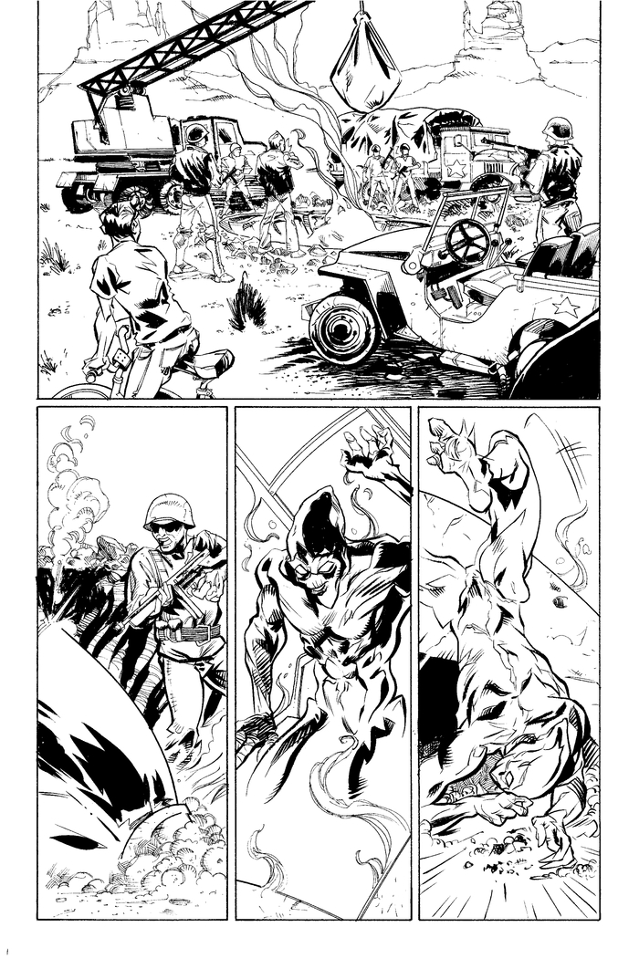Page 3, pencils by Mike Fiorentino, Ink by Steve Wands