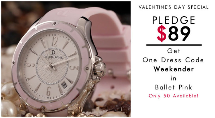 Pictured: Weekender watch in Ballet Pink. NEW: Special reward tier for Valentine's Day! Limited offer.