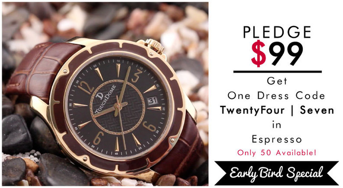 Pictured: TwentyFour | Seven watch. EARLY BACKER SPECIAL in Espresso Brown. Limit 50.