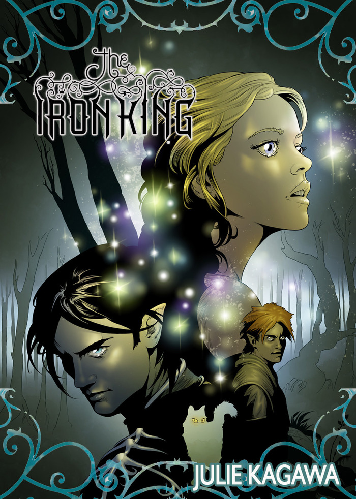 "Promotional cover for ""The Iron King"" graphic novel"