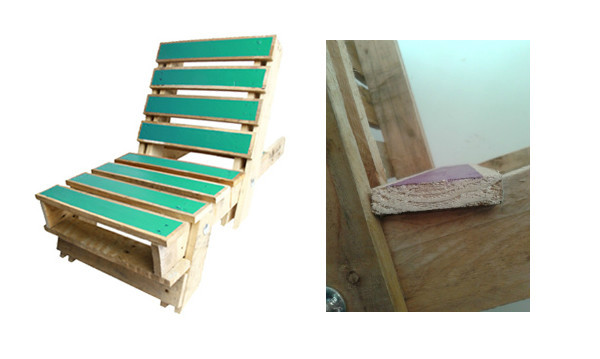 Pallet Chair painted finish